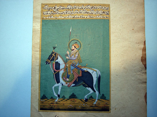 Pintura miniatura persa, caballero. Ref. APM