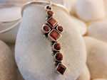 Pendant. Sterling silver and Garnets gemstones.. Ref. BAC