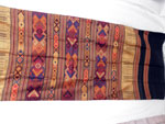 Traditional silk hand-embroidered shawl from Northern Laos.. Ref. CFA