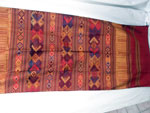 Traditional silk hand-embroidered shawl from Northern Laos.. Ref. CFD
