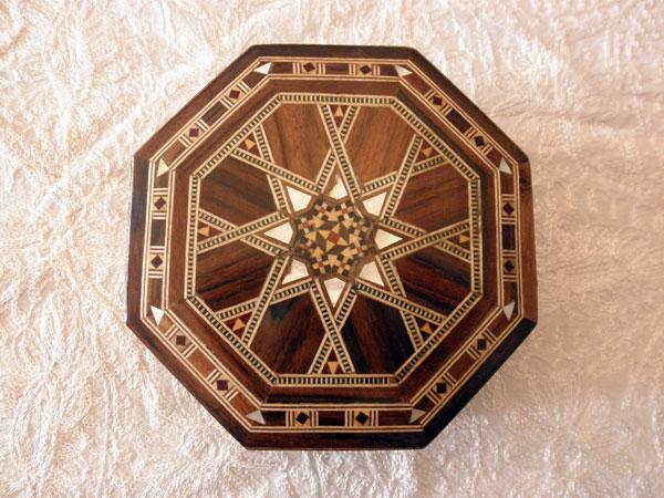 Caja de taracea de Damasco. Ref. CTC