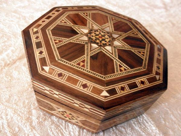 Caja de taracea de damasco agotado complementos - Andaluza de marqueteria ...