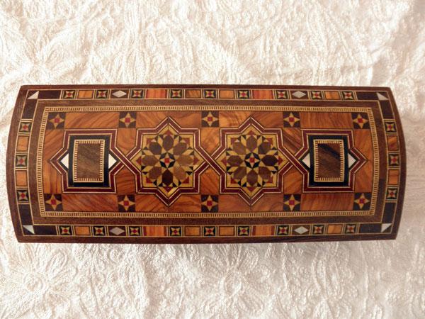 Caja lapicero de taracea de Damasco.. Ref. CTF