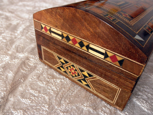 Caja lapicero de taracea de Damasco.. Foto 2
