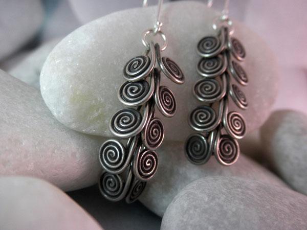 Ethnic Sterling silver earrings.. Foto 2