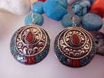 Tibetan ethnic earrings.. Ref. DCT