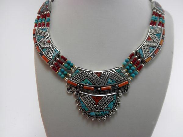 necklace ethnic handmade tibetan necklace 80 eur