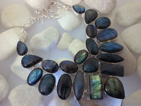 Labradorite and Sterling silver necklace.. Foto 1