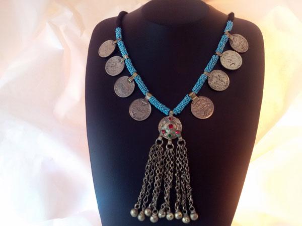 Collar etnico artesanal procedente de Herat, Afghanistan.. Ref. EMD