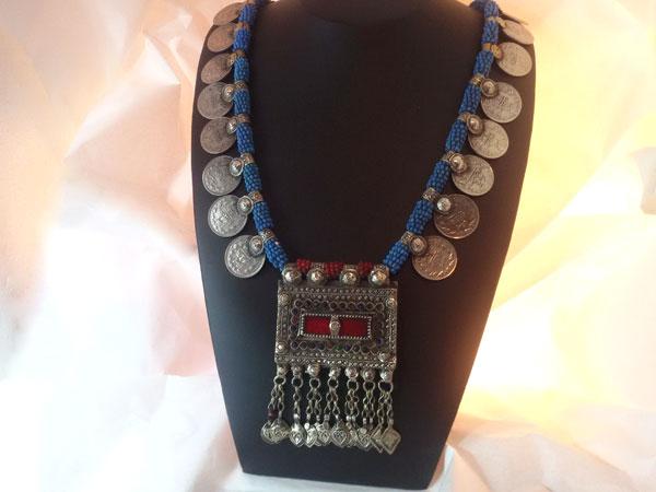 Collar etnico artesanal procedente de Herat, Afghanistan.. Ref. EME