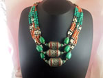 Antique Tibetan traditional necklace.. Ref. EMJ