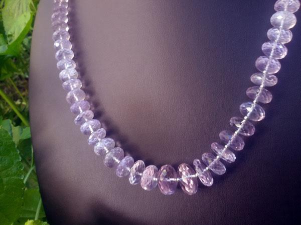 Collar de plata y gemas de Kunzita.. Foto 2