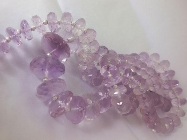 Collar de plata y gemas de Kunzita.. Foto 3