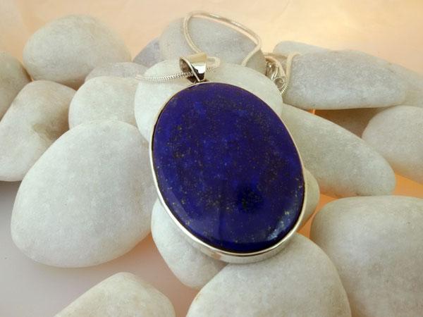 Colgante de plata y Lapis lazuli.. Ref. EPY