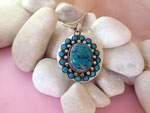 Turquoise and Sterling silver pendant.. Ref. EQM