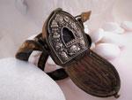 Ga,u Antique traditional Tibetan prayer box.. Ref. JAF