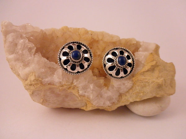 sterling silver and lapis lazuli earrings from india   25 eur