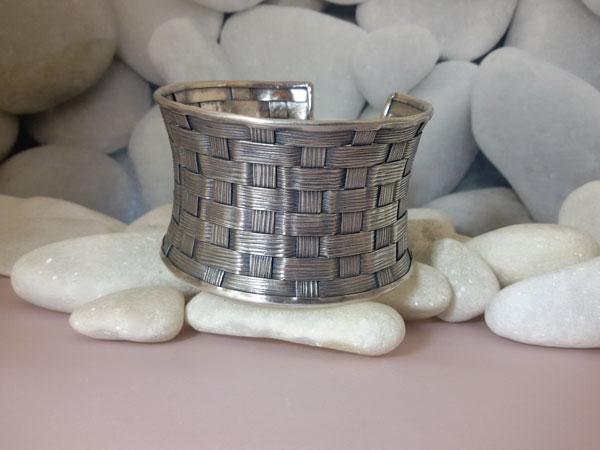 """Pulsera artesanal de plata """"Karen"""".. Foto 2"""