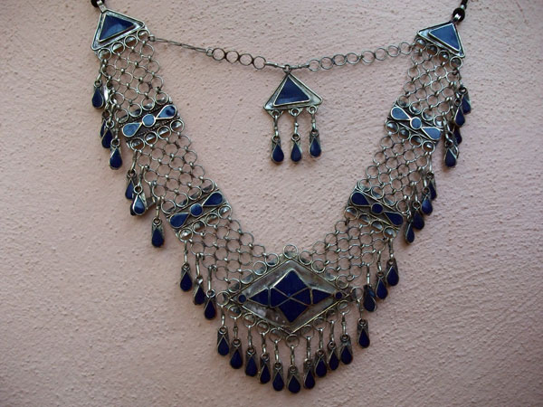 Collar etnico artesanal procedente de Afghanistan.. Ref. JKO