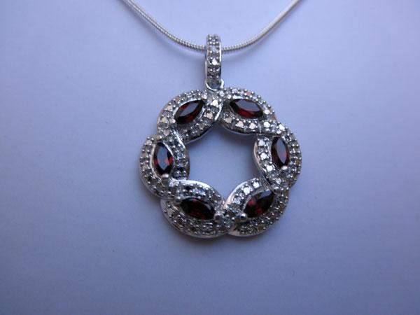 Colgante de joyeria artesanal de plata. Ref. JLJ