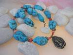 Ethnic Tibetan Turquoises necklace.. Ref. JMK