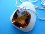 Citrine Quartz and Sterling silver pendant.. Ref. JNG