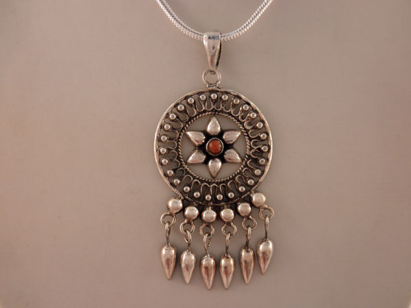 Ethnic traditional sterling silver pendant from rajhastan india ethnic traditional sterling silver pendant from rajhastan india aloadofball Images