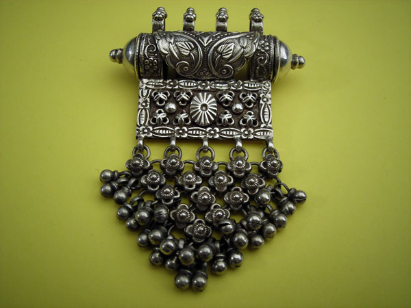 Tawiz traditional tribal silver amulet container pendant from tawiz traditional tribal silver amulet container pendant from karnataka india aloadofball Gallery