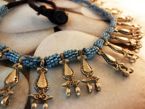 """Ethnic traditional necklace """"Kuchi"""" from Afghanistan.. Foto 2"""