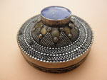 Sterling silver and Lapis Lazuli box from Afghanistan. Ref. JVB
