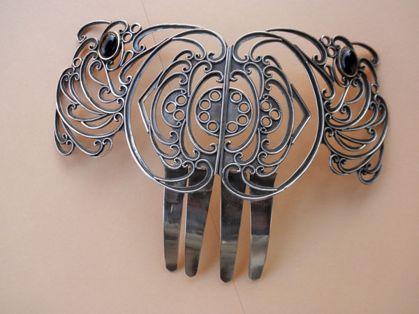 "Andalusian traditional sterling silver ""Peineta"".. Ref. JWH"