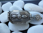 Antique ethnic tribal silver box from Rajhastan, India. Ref. JXH