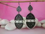 Sterling silver ethnic earrings.. Ref. MBR