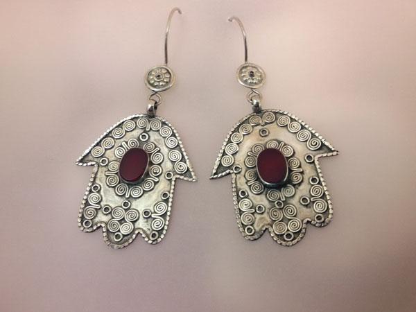 Old Sterling silver earrings.. Foto 1
