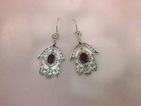 Old Sterling silver earrings.. Foto 2