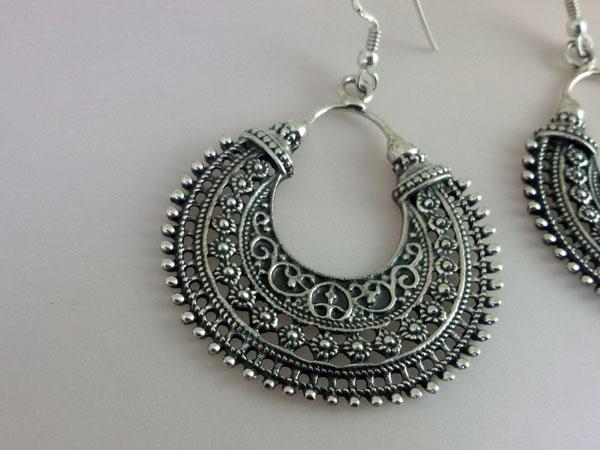 Foto 2 Ethnic Sterling Silver Earrings