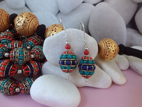 Tibetan traditional earrings.. Ref. MIA