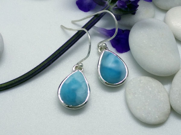 Larimar and Sterling silver earrings.. Ref. MIL