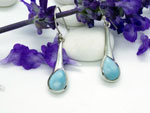 Larimar and Sterling silver earrings.. Ref. MIM