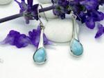 Larimar and Sterling silver earrings.. Ref. MIM