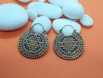 Ethnic bronze and enamel earrings.. Ref. MJG