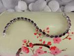 Handmade Sterling silver bracelet with red Tourmalines gemstones.. Ref. NAM