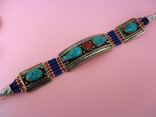 Pulsera etnica artesanal Tibetana procedente de Nepal.. Ref. NAW