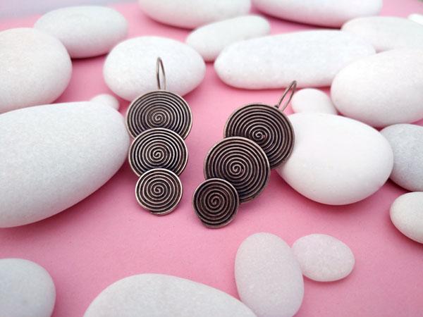 Ethnic earrings made of sterling silver, Karen.. Foto 2