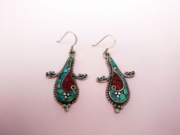 Tibetan handmade ethnic earrings.. Ref. NEX