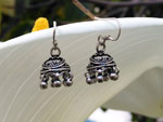 Sterling silver ethnic earrings.. Ref. NFF