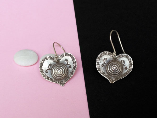 "Ethnic ""Karen"" Sterling silver earrings.. Ref. NFO"