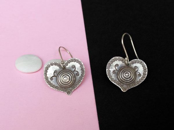 "Ethnic ""Karen"" Sterling silver earrings.. Foto 1"