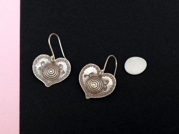 "Ethnic ""Karen"" Sterling silver earrings.. Foto 2"