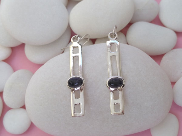 Sterling silver and Amethyst earrings.. Foto 1